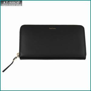Paul Smith ポール・スミス 財布サイフ ラウンドファスナー長財布(小銭入れ付き) APXA 4778 W761 ブラック×マルチカラー|at-shop