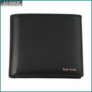 Paul Smith ポール・スミス 財布サイフ 二つ折り財布(小銭入れ付き) APXA 4833 W763 ブラック×マルチカラー|at-shop
