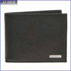 DOLCE&GABBANA ドルチェ&ガッバーナ 財布サイフ 型押しカーフ メンズ 二つ折り財布 BP0457-A5477-80999 ブラック|at-shop