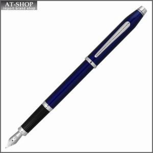 CROSS クロス 万年筆 センチュリーII トランスルーセントブルーラッカー ペン先 F:細字 AT0086-103F|at-shop