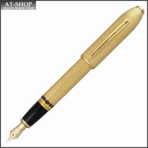 CROSS クロス 万年筆 ピアレス125 23金ヘビーゴールドプレート ペン先 M:中字 AT0706-4M|at-shop