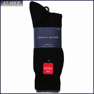 TOMMY HILFIGER トミー・ヒルフィガー ソックス 5足セット ATA104-color00 ブラック at-shop