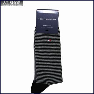 TOMMY HILFIGER トミー・ヒルフィガー ソックス 2足セット ATA176-color96 ブラック×グレー|at-shop