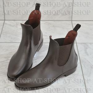 プレーンサイドゴア レインブーツ メンズ 雨靴 レインシューズ ATTM-001 ブラウン サイズ:M|at-shop