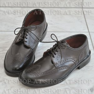 ウィングチップ レインシューズ メンズ 雨靴  ATTM-003 ブラウン サイズ:M|at-shop