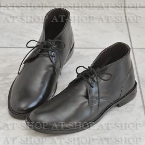 チャッカブーツ レインブーツ メンズ 雨靴  レインシューズ ATTM-004 ブラック サイズ:M|at-shop