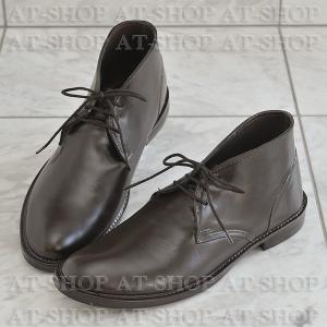 チャッカブーツ レインブーツ メンズ 雨靴  レインシューズ ATTM-004 ブラウン サイズ:M|at-shop