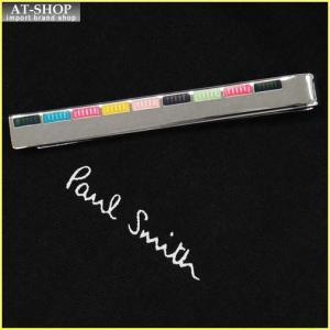 Paul Smith ポール・スミス ネクタイピン タイバー MEN TIE PIN ATXC-TPIN-FINER-96 シルバー×マルチカラー|at-shop