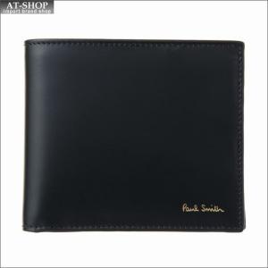 ポール・スミス PaulSmith 二つ折り財布 AUPC 4833 W761A 79-Black|at-shop