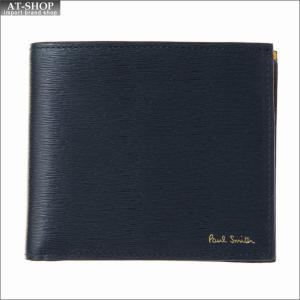ポール・スミス PaulSmith 二つ折り財布 AUPC 4833 W905 47 Navy|at-shop