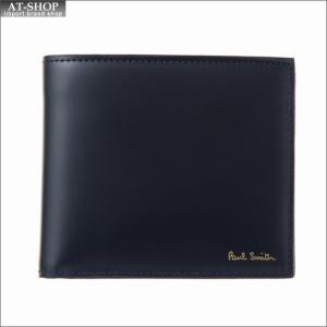 ポール・スミス PaulSmith 二つ折り財布 AUPC 4833 W908 47 Navy|at-shop