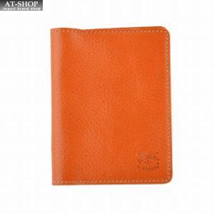 イルビゾンテ IL BISONTE C0469/M 145 Caramel カードケース パスケース 定期入れ|at-shop