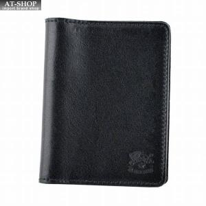 イルビゾンテ IL BISONTE C0469/M 153 Black カードケース パスケース 定期入れ|at-shop