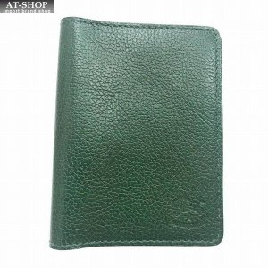 イルビゾンテ IL BISONTE C0469/M 293 Green カードケース パスケース 定期入れ|at-shop