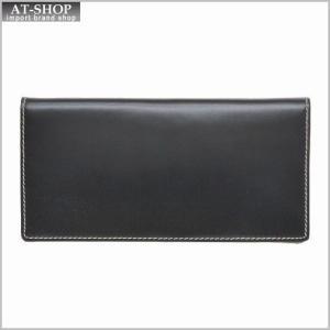 ブリティッシュグリーンBRITISH GREEN 財布サイフ ブライドルレザー メンズ 二つ折り長財布 (小銭入れ付き)  ブラック