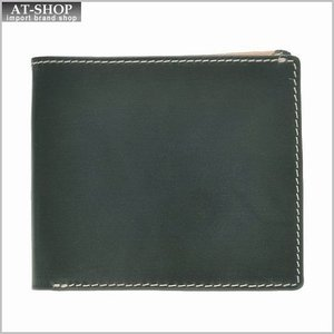 ブリティッシュグリーンBRITISH GREEN 財布サイフ ブライドルレザー メンズ 二つ折り財布 73115 グリーン|at-shop