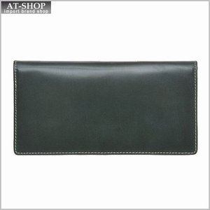ブリティッシュグリーンBRITISH GREEN 財布サイフ ブライドルレザー メンズ 二つ折り長財布 (小銭入れ付き) 73116 グリーン|at-shop