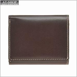 ブリティッシュグリーンBRITISH GREEN 財布サイフ ブライドルレザー メンズ 胸ポケット三つ折り財布 73124 バーガンディ|at-shop
