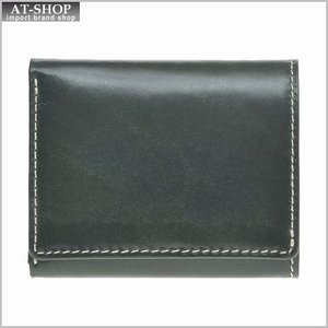 ブリティッシュグリーンBRITISH GREEN 財布サイフ ブライドルレザー メンズ 胸ポケット三つ折り財布 73125 グリーン|at-shop