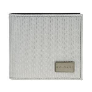 BVLGARI ブルガリ 財布  28357 SILVER 二つ折り財布 小銭入れ付|at-shop