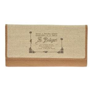 ブルガリ BVLGARI 財布サイフ COLLEZIONE 1910  レディース 二つ折り長財布 30169 CANVAS-NAT|at-shop