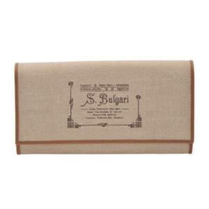 ブルガリ BVLGARI 財布サイフ COLLEZIONE 1910  レディース 二つ折り長財布 32053 CANVAS-NAT|at-shop
