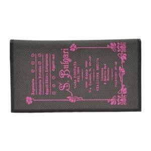 ブルガリ BVLGARI コレッツォーネ ロゴプリント 小銭入れ付 二つ折り長財布 ブラック/ピンク 32447 CANVAS/BLK|at-shop