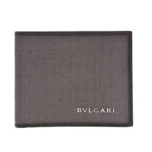 ブルガリ BVLGARI 財布サイフ ウィークエンド メンズ 二つ折り財布 (小銭入れ無し) 32580 BLACK ダークグレー ブラック|at-shop