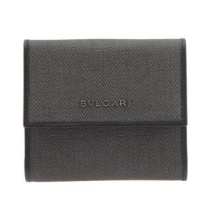 ブルガリ BVLGARI 財布サイフ ウィークエンド メンズ ダブルホック財布  32586 BLACK ダークグレー ブラック|at-shop