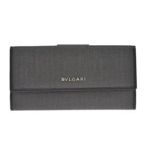 ブルガリ BVLGARI 財布サイフ ウィークエンド レディース 二つ折り長財布 32589 BLACK ダークグレー ブラック|at-shop