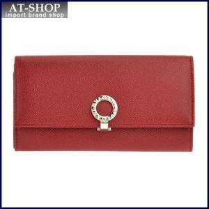 BVLGARI  ブルガリ 財布 33889 GRAIN/RUBY RED 長財布 at-shop