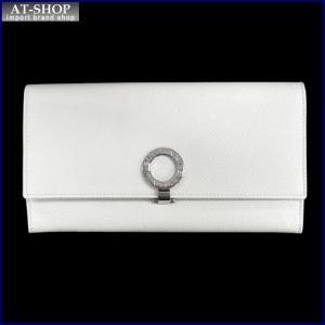 BVLGARI ブルガリ 財布サイフ BVLGARI 二つ折り長財布 280106 ホワイト|at-shop
