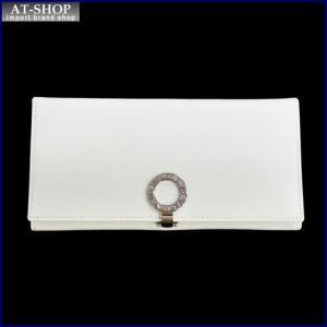 BVLGARI ブルガリ 財布サイフ BVLGARI 二つ折り長財布 31585 ホワイト|at-shop