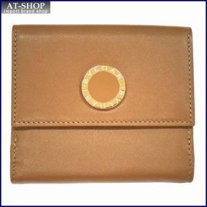 BVLGARI ブルガリ 財布サイフ BB COLORE Wホック二つ折り財布 33383 ライトブラウン|at-shop