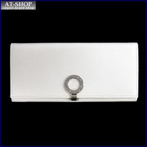 BVLGARI ブルガリ 財布サイフ BVLGARI 二つ折り長財布 35940 ホワイト|at-shop