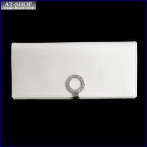 BVLGARI ブルガリ 財布サイフ BVLGARI 二つ折り長財布 38899 ホワイト|at-shop