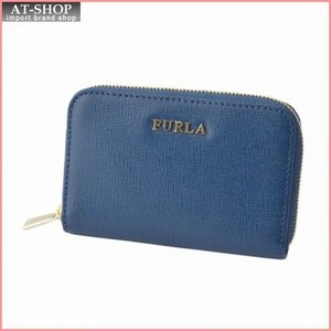 フルラ FURLA 852681 RI09 B30 BLU GINEPRO バビロン キーリング付 コインケース BABYLON KEYCASE ZIP AROUND|at-shop