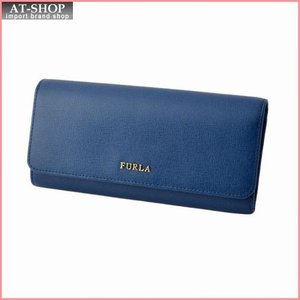 フルラ FURLA 856529 PN84 B30 BLU GINEPRO 二つ折り長財布 フラップ ウォレット BABYLON XL|at-shop