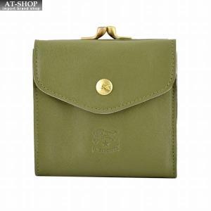 イルビゾンテ IL BISONTE C0423 955 Oliva がま口小銭入れ付 二つ折り財布|at-shop