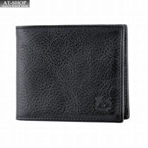 イルビゾンテ IL BISONTE C0437 153 Black 二つ折り財布 小銭入れ無し|at-shop