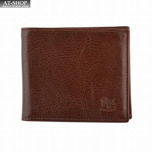 イルビゾンテ IL BISONTE C0437 869 Brown 二つ折り財布 小銭入れ無し|at-shop