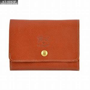 イルビゾンテ IL BISONTE C0522 214 Cognac 二つ折り財布|at-shop