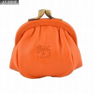 イルビゾンテ IL BISONTE C0674 166 Orange がま口小銭入れ コインケース at-shop