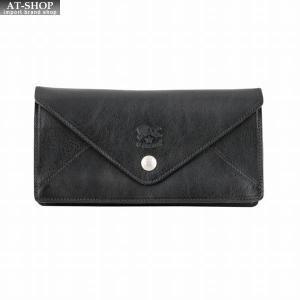 イルビゾンテ IL BISONTE C0987 153 Black レター型 長財布  ロングウォレット|at-shop