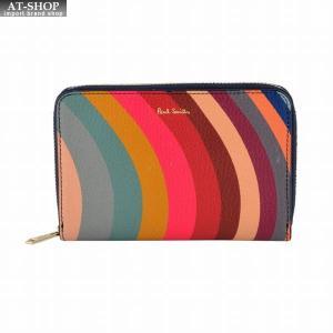 ポールスミス PAUL SMITH W1A 5216 A50016 90 スワール ラウンドファスナー二つ折り財布|at-shop