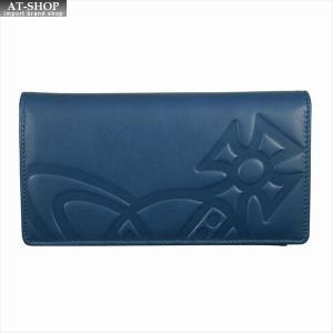 Vivienne Westwood ヴィヴィアン・ウェストウッド 財布サイフ NO,10 CHESTER 二つ折り長財布 51040010 BLUE 18SS ブルー|at-shop