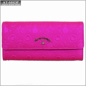 Vivienne Westwood ヴィヴィアン・ウェストウッド 財布サイフ NO,8 CHILHAM 二つ折り長財布 39.0011 PINK 17SS ピンク|at-shop