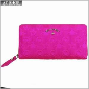 Vivienne Westwood ヴィヴィアン・ウェストウッド 財布サイフ NO,8 CHILHAM ラウンドファスナー長財布 39.0012 PINK 17SS ピンク|at-shop