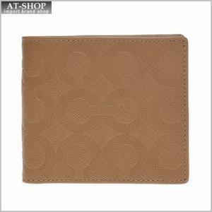 コーチCOACH 財布サイフ メンズ二つ折り財布 オプアートレザー ダブル ビルフォールド ウォレット 74179 ブリティッシュタン|at-shop