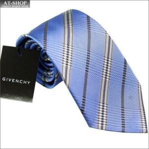 ジバンシー GIVENCHY ネクタイ 8.5cm ブルー系 CR8GP 022-5...